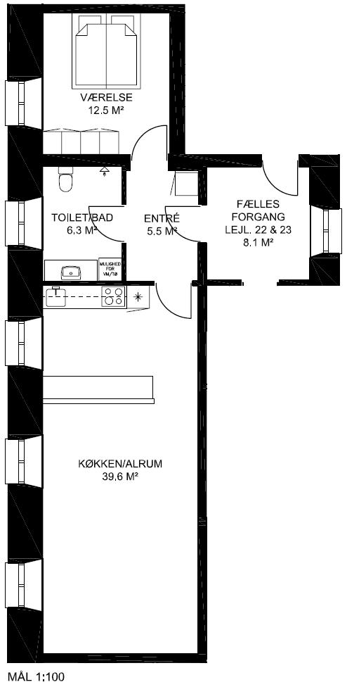 Plantegning - Lejlighed 22